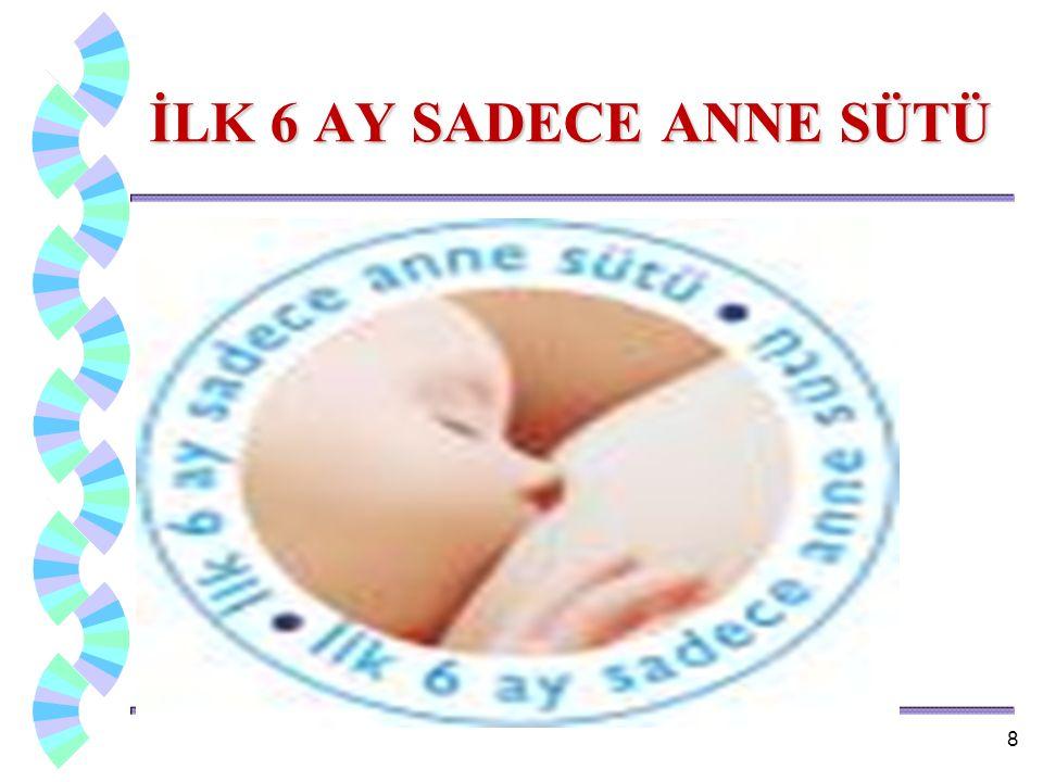  Yeni doğan bebek için en ideal besin anne sütüdür.