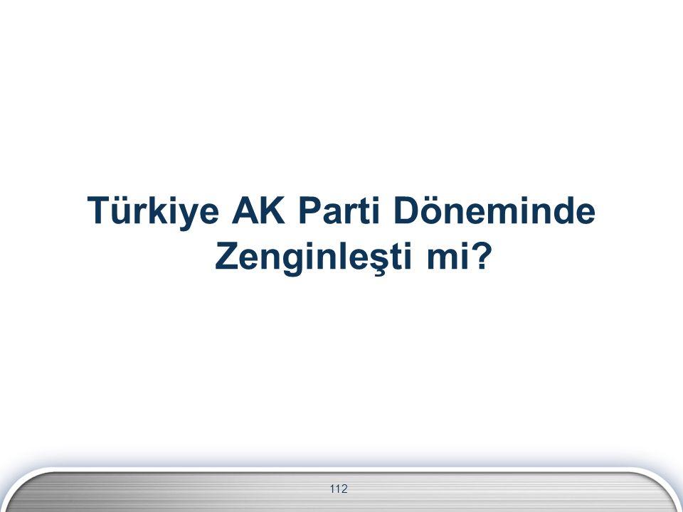 112 Türkiye AK Parti Döneminde Zenginleşti mi
