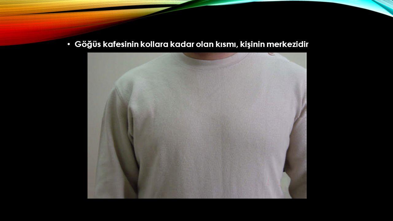 Göğüs kafesinin kollara kadar olan kısmı, kişinin merkezidir