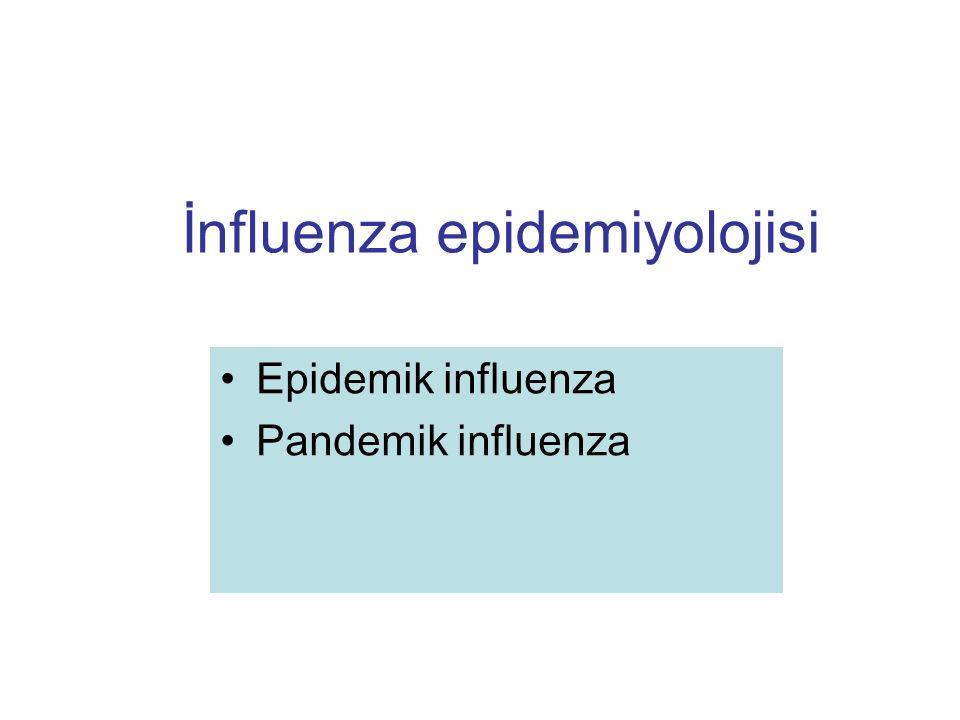 İnfluenza epidemiyolojisi Epidemik influenza Pandemik influenza