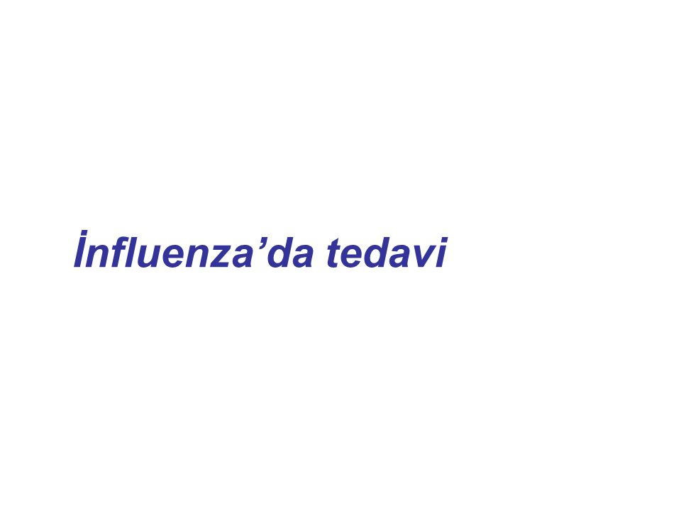 İnfluenza'da tedavi