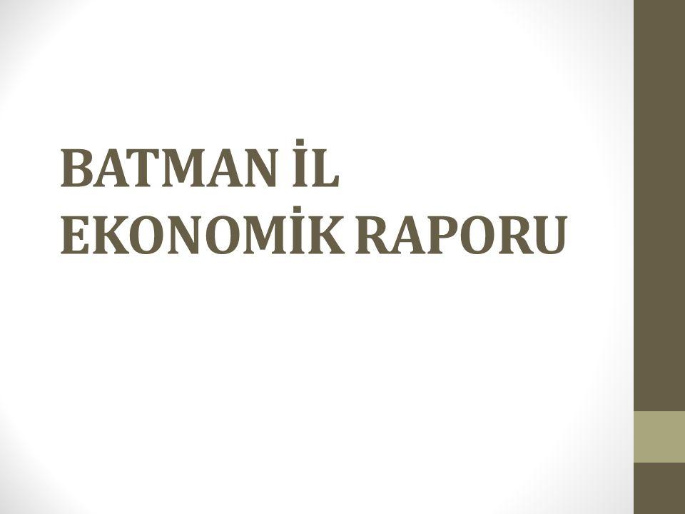 İÇİNDEKİLER 1.Türkiye Ekonomisi Genel Değerlendirme 1.1.Büyüme 1.2.İstihdam 1.3.İhracat 1.4.Enflasyon 2.Batman İli Ekonomik Değerlendirme 2.1.SANAYİ 2.2.İhracat 2.3.İstihdam Ve İşsizlik 3.Karşılaştırma 3.1.İhracat Oranları Karşılaştırması 3.2.İstihdam ve İşsizlik Oranları Karşılaştırması