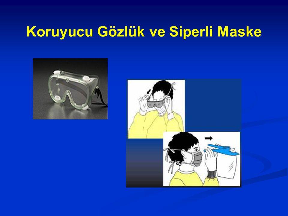 Koruyucu Gözlük ve Siperli Maske