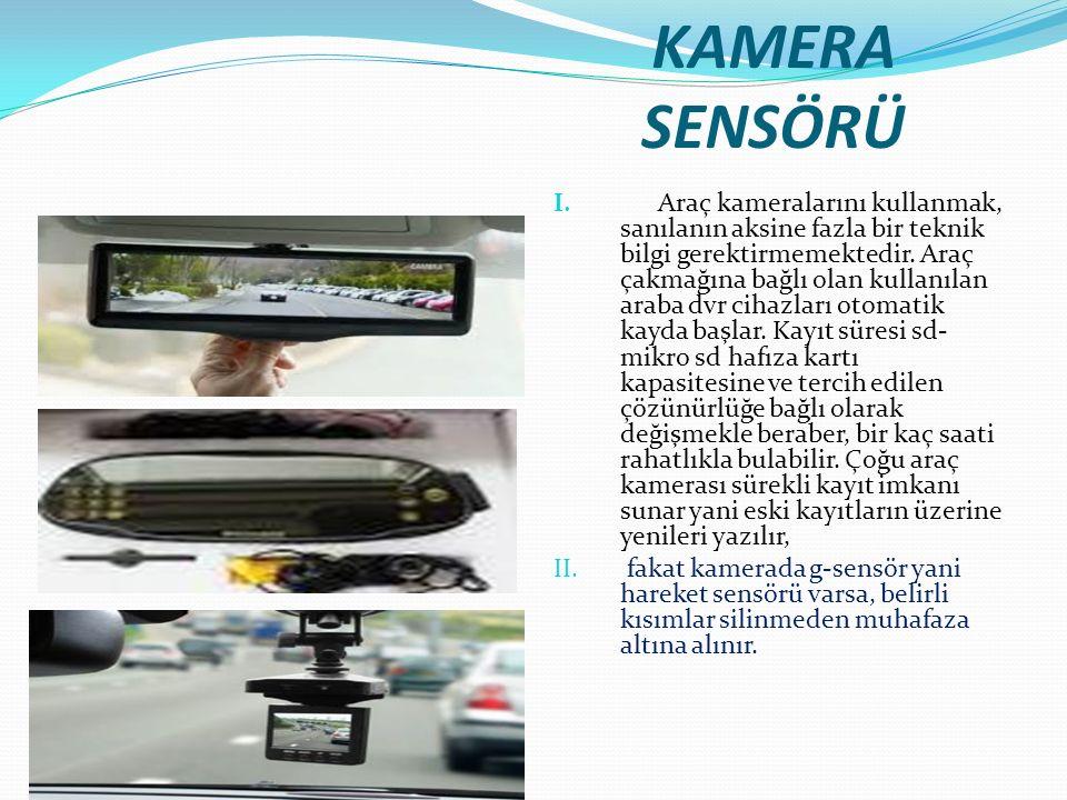 KAMERA SENSÖRÜ I. Araç kameralarını kullanmak, sanılanın aksine fazla bir teknik bilgi gerektirmemektedir. Araç çakmağına bağlı olan kullanılan araba