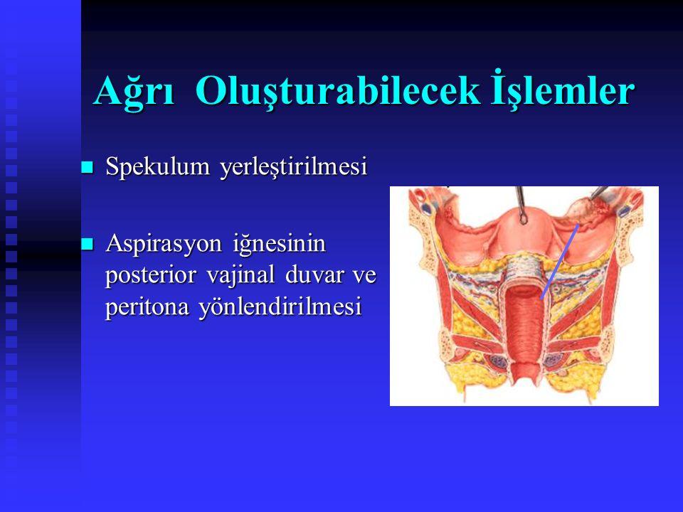 Ağrı Oluşturabilecek Dokular Douglas Uterosakral ligament Overler Uterus Fallop tüpleri