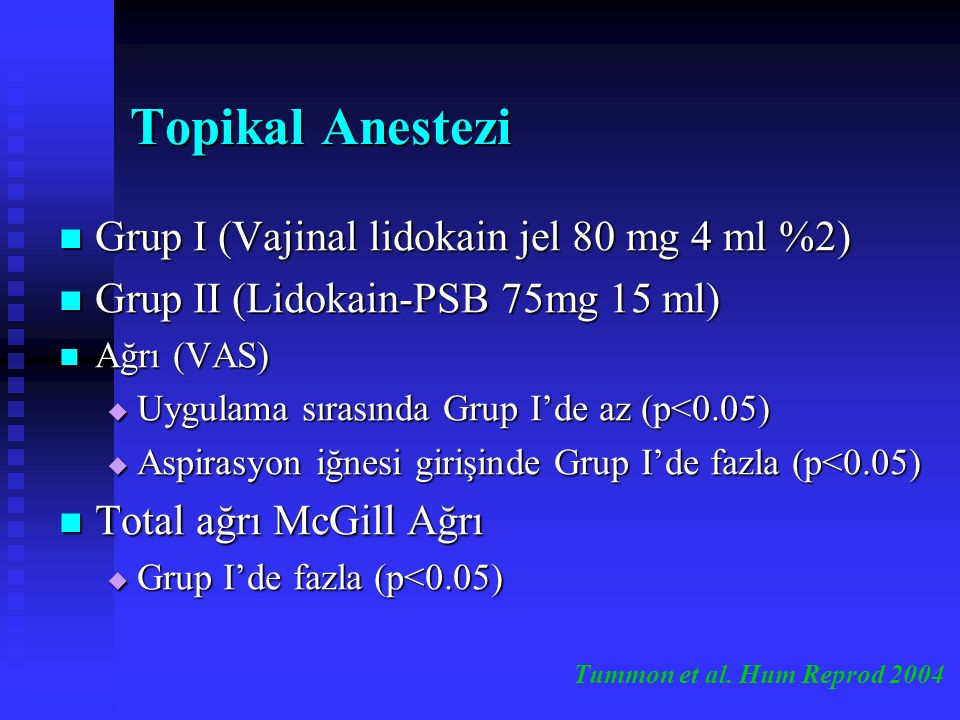 PSB Komplikasyonları Toksik Etki Toksik Etki İleri derecede bradikardi ve bradipne (A-V komplet bloğu ve hafif mitral yetmezliği olan olguda 400 mg mepivakain enjeksiyonundan sonra) Vazovagal Etki Vazovagal Etki Enfeksiyon Enfeksiyon Kanama Kanama Ayesteran et al.