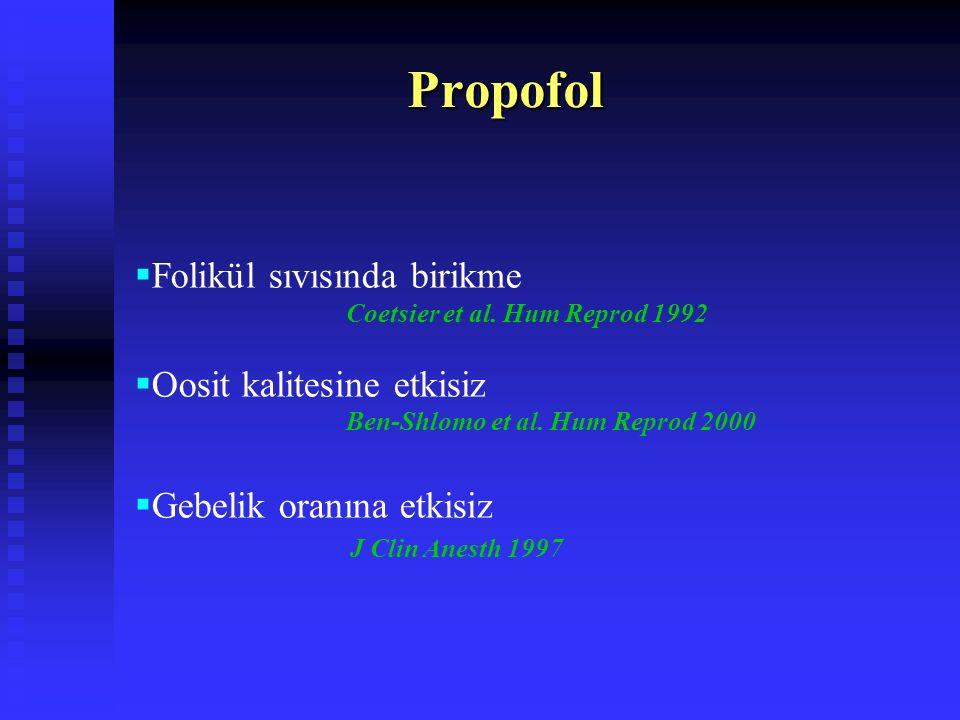 Benzodiazepinler Analjezik etkileri yok Anterograt amnezi Midazolam ve diazepam en sık kullanılan Erken gebelik döneminde diazepam teratojen American