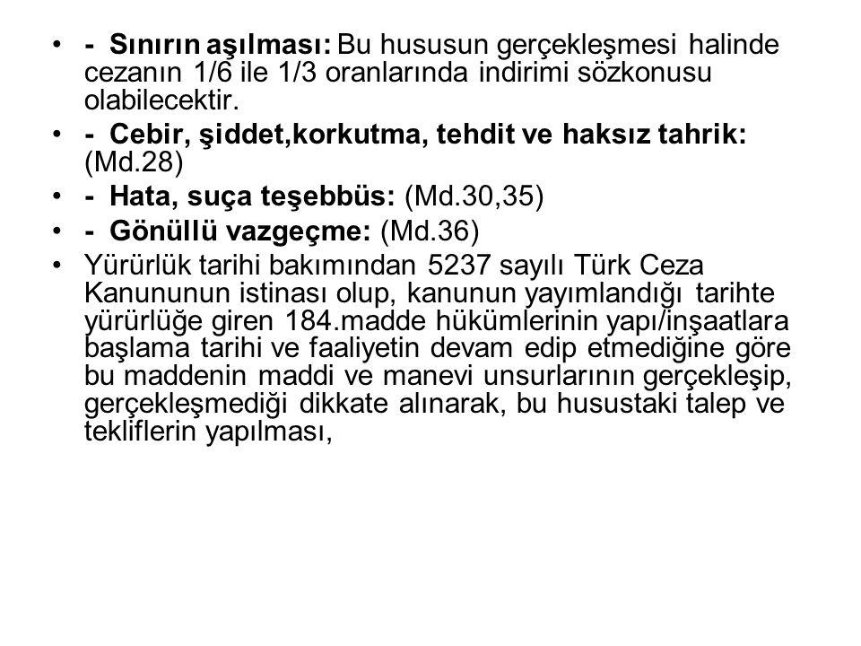 3- Görev onayında belirtilen konuların dışına çıkılmaması, mevzuat açısından bildirim zorunluluğu bulunan ve bildirilmediği takdirde suç konusu olabilecek durumlarda bildirimin Teftiş Kurulu Başkanlığı kanalıyla yapılması, (5237 sayılı Türk Ceza Kanunu suçu bildirmeme yi artık herkes bakımından suç olarak düzenlemiştir.
