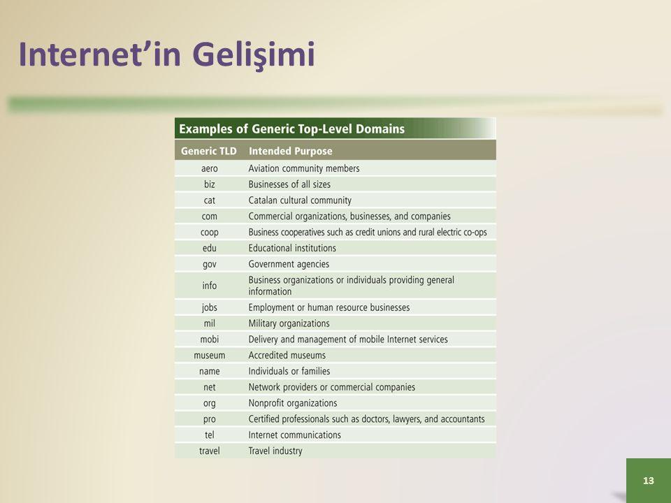 Internet'in Gelişimi 13