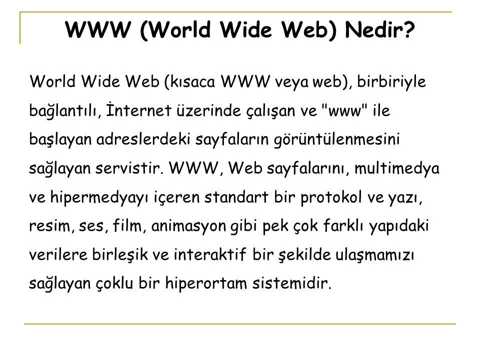 WWW (World Wide Web) Nedir.