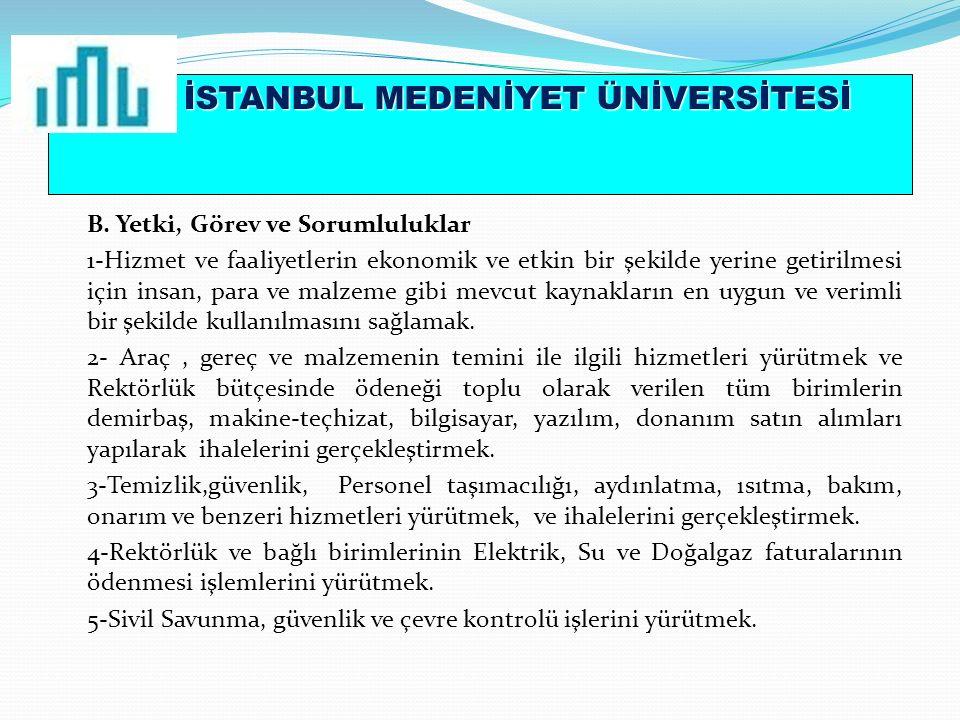 İSTANBUL MEDENİYET ÜNİVERSİTESİ B.