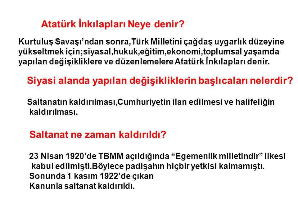 Atatürk İnkılapları Neye denir.