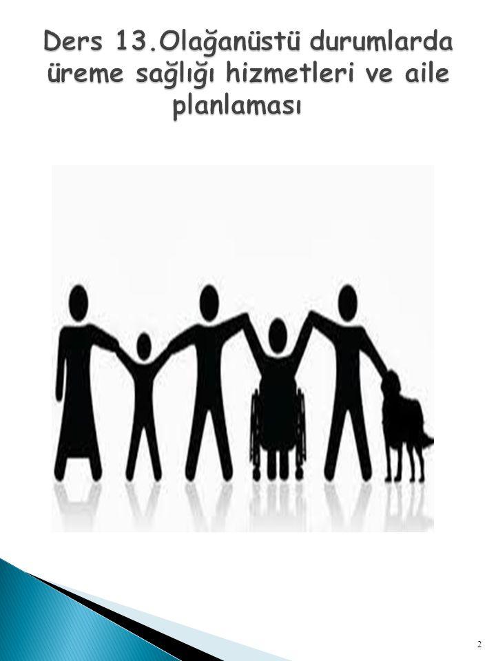  Sağlıklı çocuklar yetiştirmek için bebek ölümlerini azaltmak amaç olduğu için evlilik içi doğumlarında ailelerin barınacak yer sorunu ve ekonomik imkanları düzeldiği bir-iki yıl sonrasına ertelenebilmesi için aile planması yöntemlerine başvurulur.