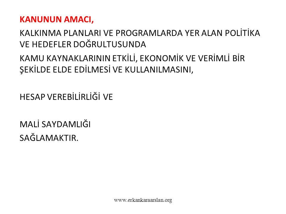 www.erkankaraarslan.org Harcama yetkisi ve yetkilisi Madde 31- Bütçeyle ödenek tahsis edilen her bir harcama biriminin en üst yöneticisi harcama yetkilisidir.