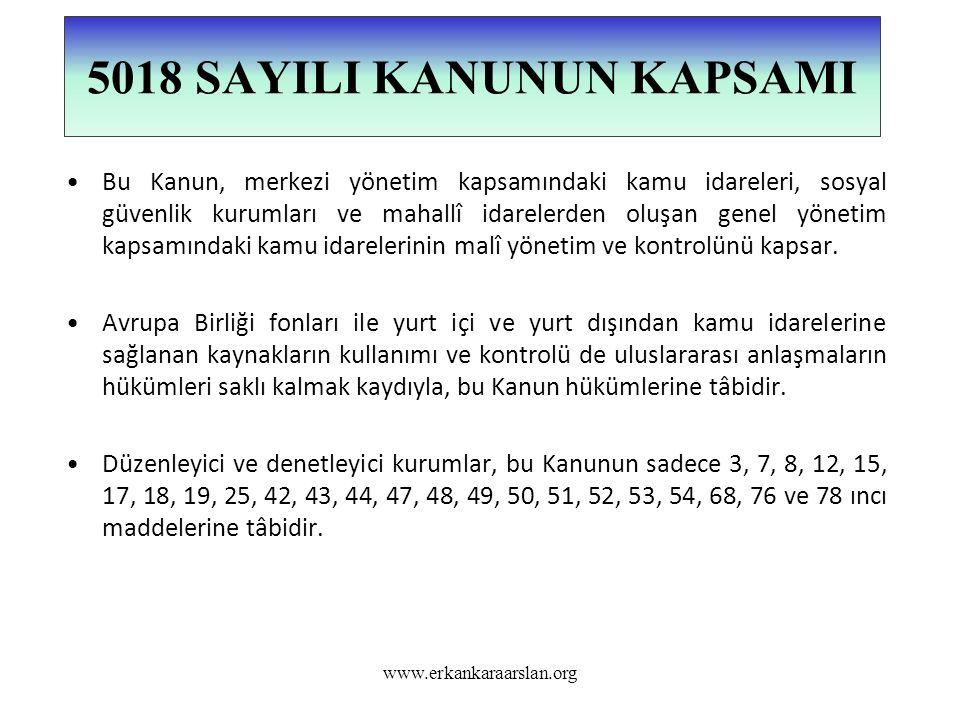 (Ek fıkra: 24/7/2008-5793/33 md.) Bu Kanunda yer alan genel yönetim kapsamındaki kamu idareleri tanımına bağlı kalmaksızın; mali istatistiklerin derlenmesi amacıyla, uluslararası sınıflandırmalara uygun olarak, Devlet Planlama Teşkilatı Müsteşarlığı, Hazine Müsteşarlığı, Türkiye Cumhuriyet Merkez Bankası ve Türkiye İstatistik Kurumunun da görüşünü almak suretiyle, ayrıca genel yönetim sektörü adıyla bir kapsam belirlemeye ve bu kapsamdaki kamu idarelerinin mali verilerini almaya Maliye Bakanlığı yetkilidir.