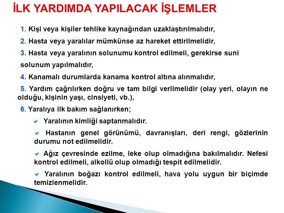 SOLUNUM SİSTEMİ Solunum sayısı Yetişkin 12-20/dk. Çocuk 20-25/dk. Bebek 20-25 üzeri/dk.