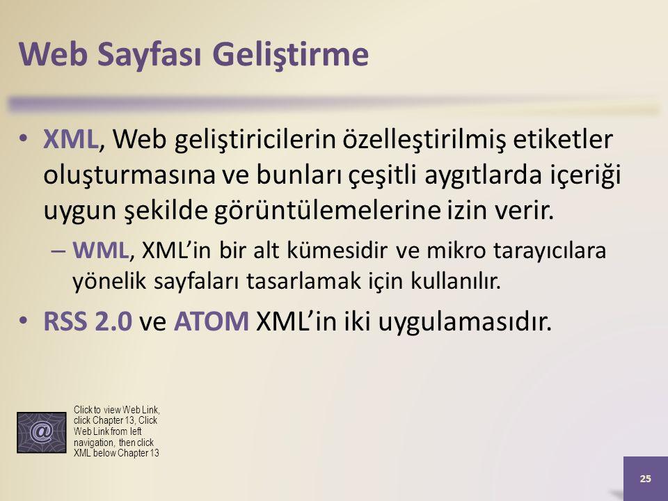 Web Sayfası Geliştirme XML, Web geliştiricilerin özelleştirilmiş etiketler oluşturmasına ve bunları çeşitli aygıtlarda içeriği uygun şekilde görüntülemelerine izin verir.