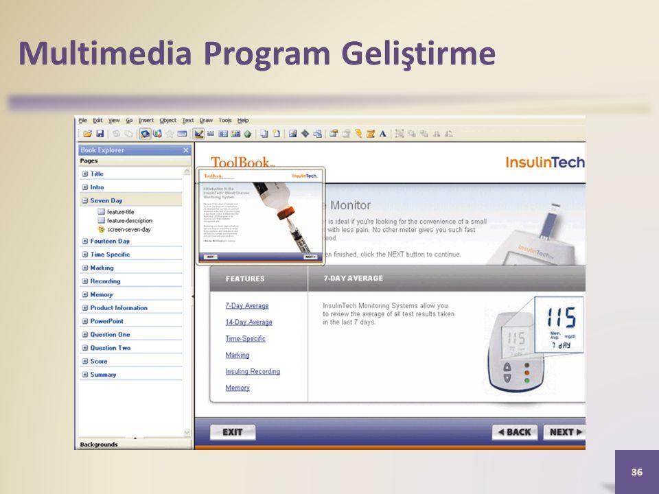 Multimedia Program Geliştirme 36