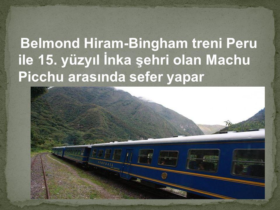Belmond Hiram-Bingham treni Peru ile 15. yüzyıl İnka şehri olan Machu Picchu arasında sefer yapar