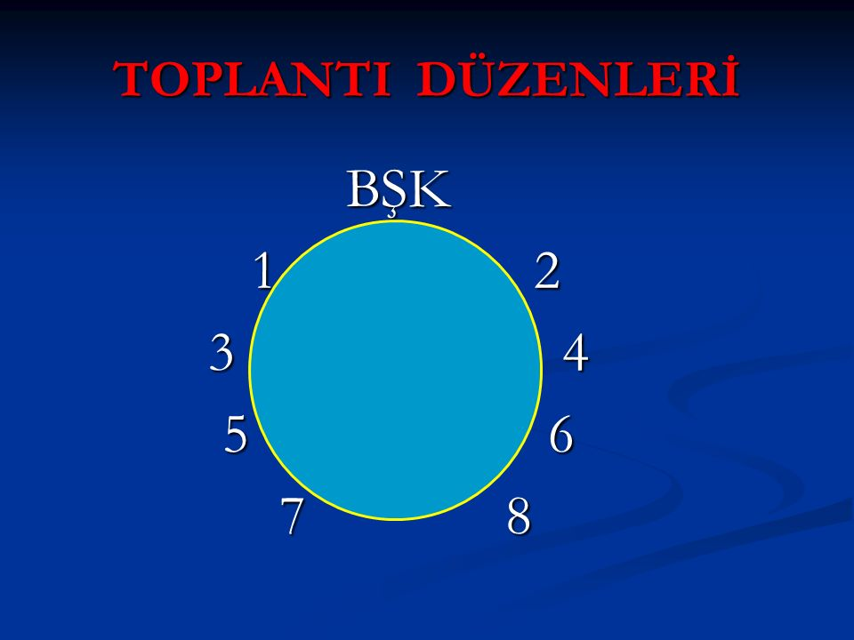 BŞK 1 2 3 4 5 6 7 8