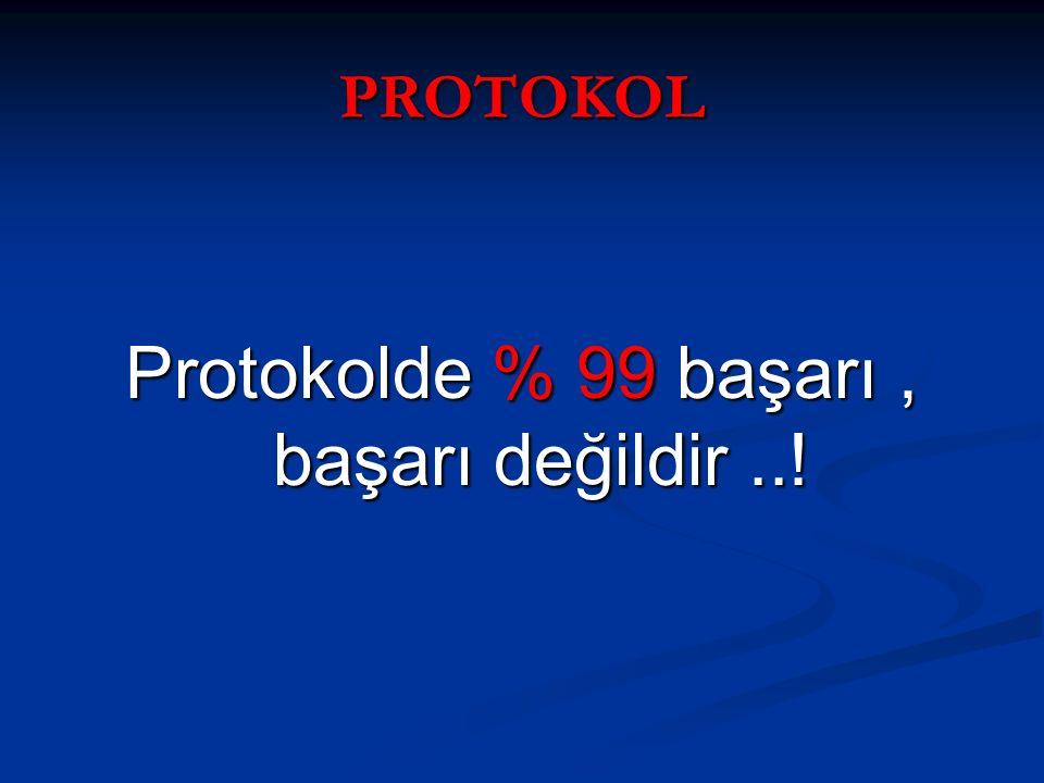 PROTOKOL Protokolde % 99 başarı, başarı değildir..!