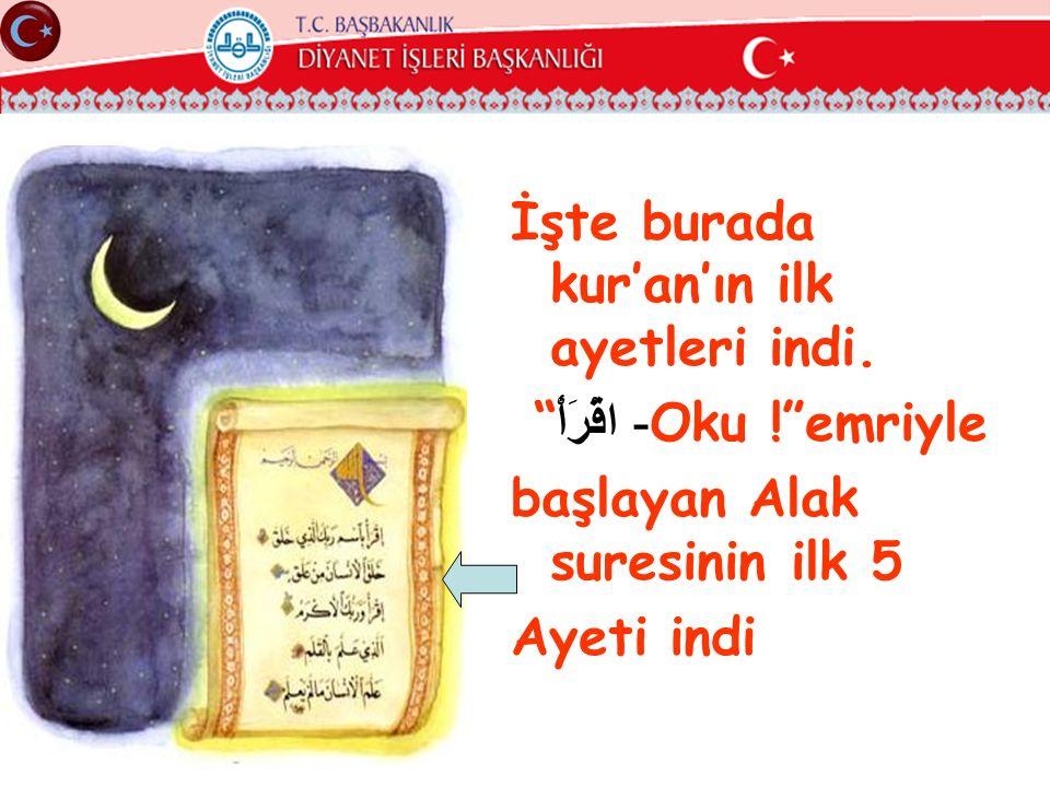 """İşte burada kur'an'ın ilk ayetleri indi. """" اقْرَأْ - Oku !""""emriyle başlayan Alak suresinin ilk 5 Ayeti indi"""