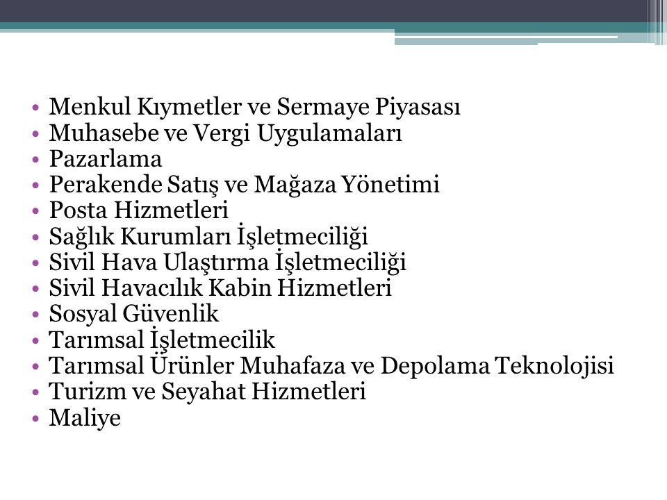 MUHASEBE VE FİNANSMAN ALANI 10.