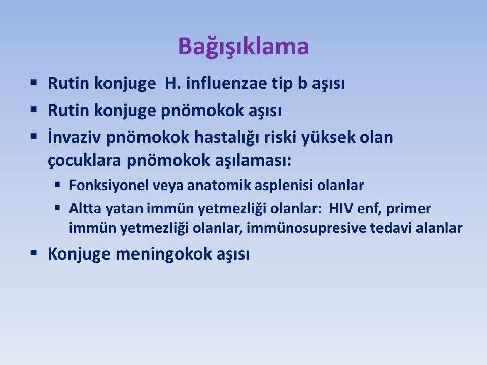 Bağışıklama  Rutin konjuge H.