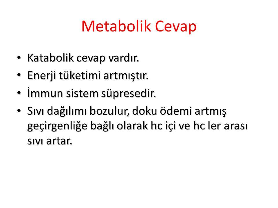 Metabolik Cevap Katabolik cevap vardır.Katabolik cevap vardır.