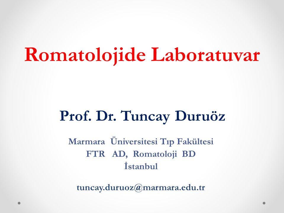 laboratuvar Romatizmal hastalıkların değerlendirilmesinde laboratuvar temel ögelerdendir.