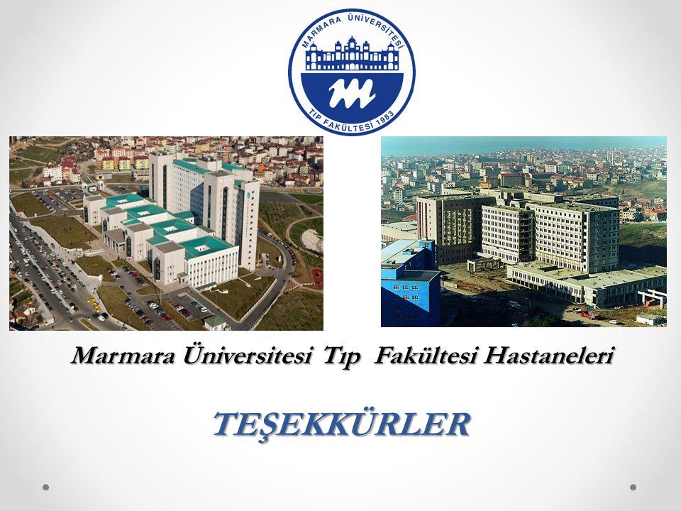 TEŞEKKÜRLER Marmara Üniversitesi Tıp Fakültesi Hastaneleri