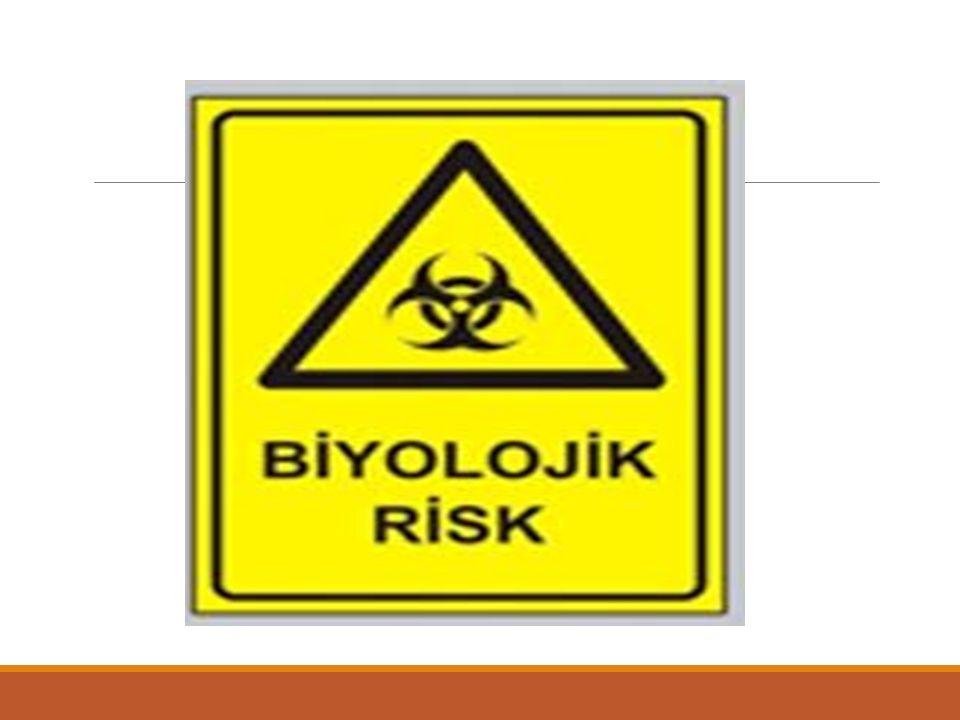 2.3 Biyolojik Risk Etmenler Mesleki biyolojik risklere maruz kalınan bazı sektörler Tarım ürünün yetiştirilmesi ve hasadı, Tarım ürünlerinin işlenmesi, Hayvancılık, Hayvan tüyleri ve derilerinin işlenmesi, Balıkçılık,Ormancılık, Ağaç işleme: marangozhaneler, Tekstil fabrikaları, Laboratuvar hayvanlarının bakımı,