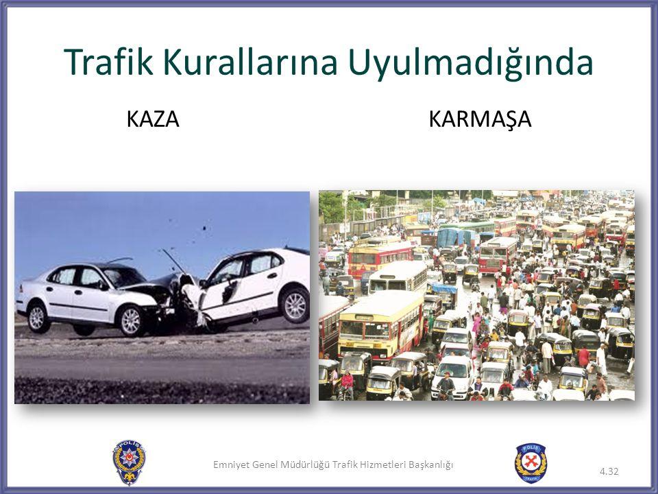 Emniyet Genel Müdürlüğü Trafik Hizmetleri Başkanlığı Trafik Kurallarına Uyulmadığında 4.32 KAZAKARMAŞA