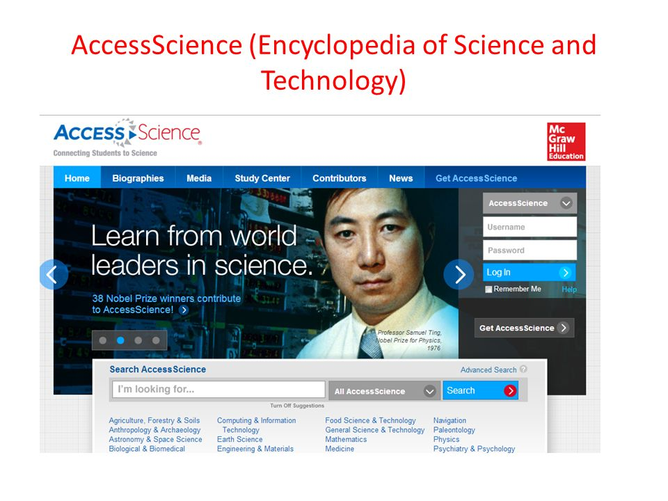 AccessScience (Encyclopedia of Science and Technology)