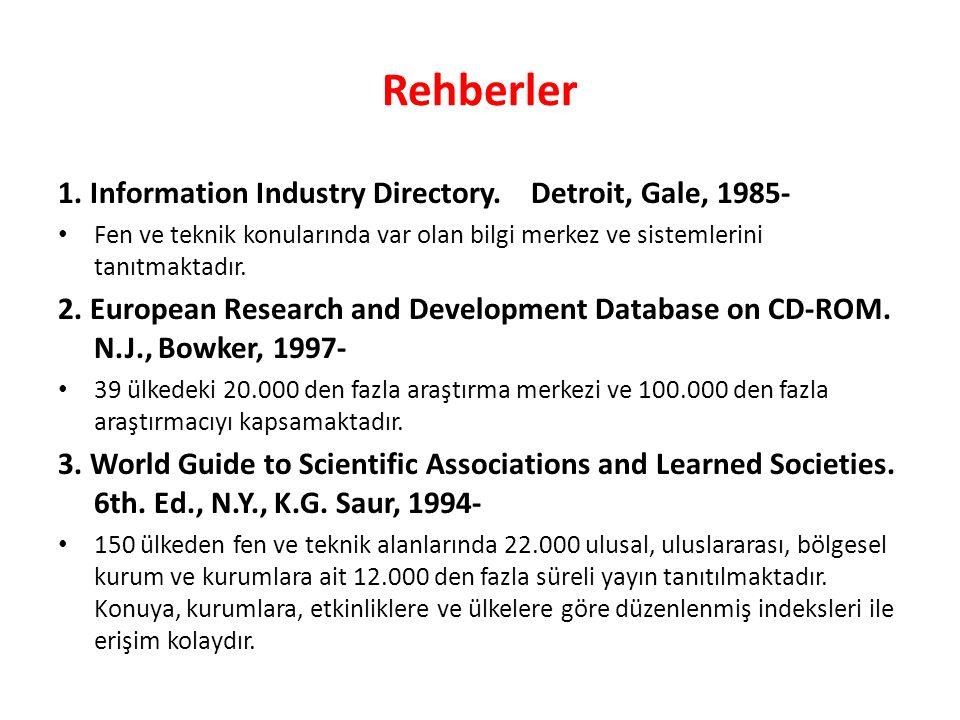 Rehberler 1. Information Industry Directory.