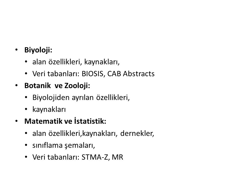 Tezler 1.Dissertation Abstracts International B: The Science and Engineering.
