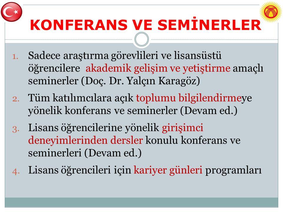 KONFERANS VE SEMİNERLER 1.