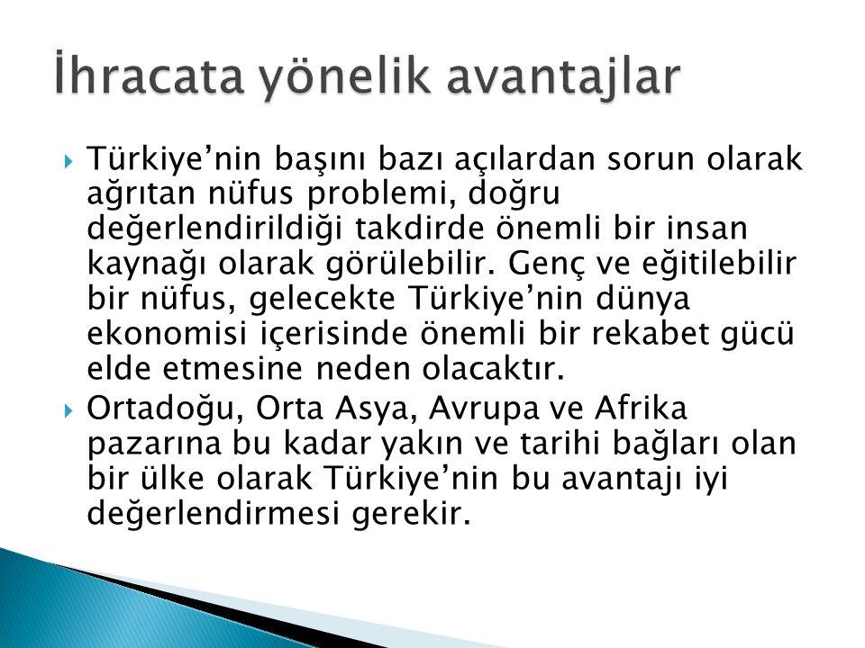  Türkiye'nin başını bazı açılardan sorun olarak ağrıtan nüfus problemi, doğru değerlendirildiği takdirde önemli bir insan kaynağı olarak görülebilir.