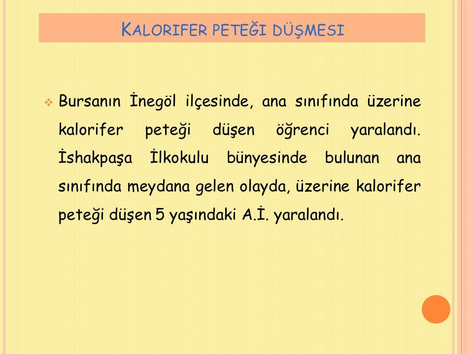  Osmaniye'de 28 öğrenci cıvadan zehirlendi.