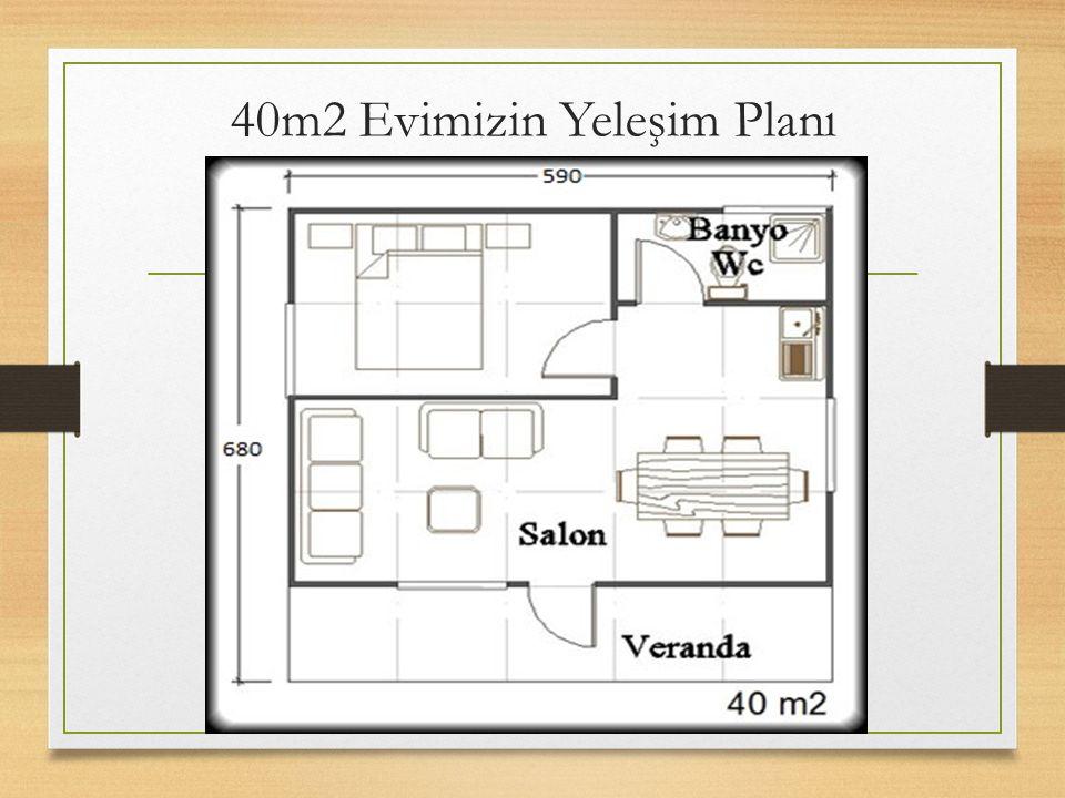 40m2 Evimizin Yeleşim Planı