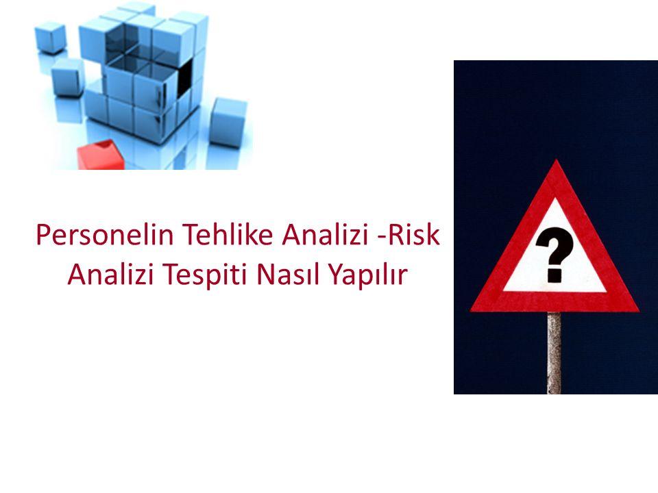 Risk Değerlendirmesini doğru anlamak için iki temel kavram bilinmelidir TEHLİKERİSK Tehlike ve risk aynı şey değildir.