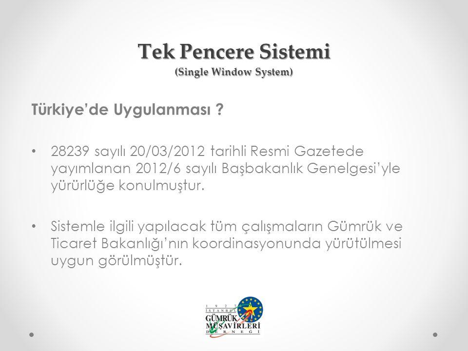 Türkiye'de Uygulanması .