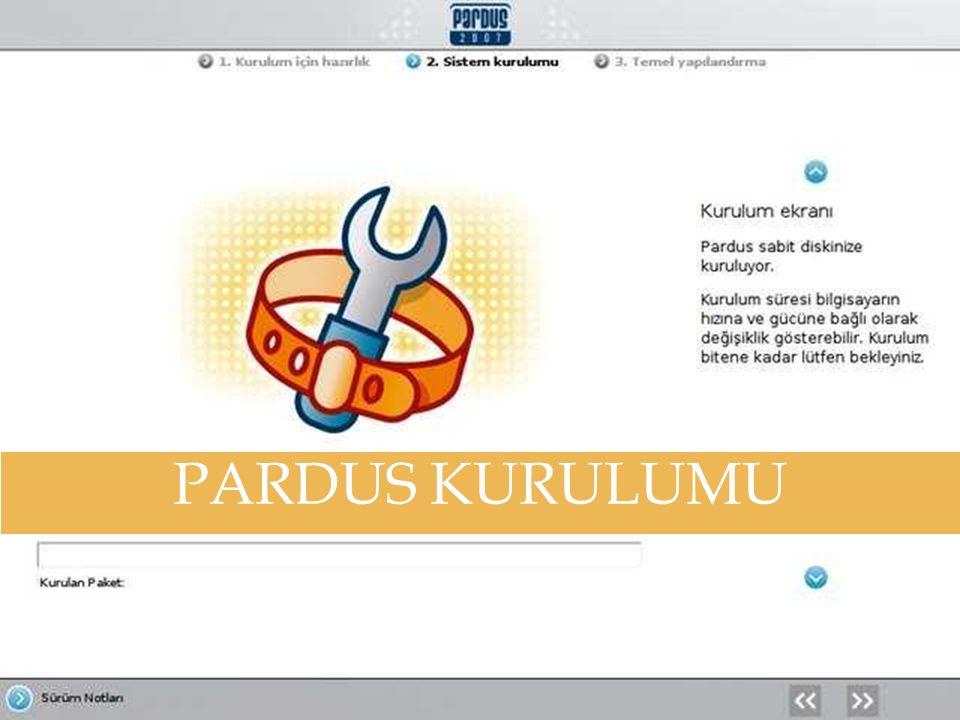 PARDUS KURULUMU