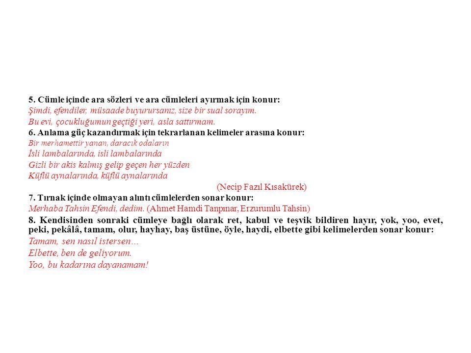 TIRNAK İŞARETİ ( ) 1.