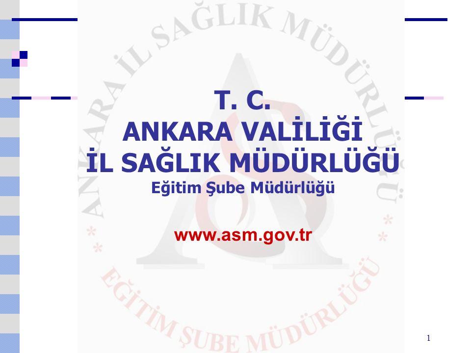 1 T. C. ANKARA VALİLİĞİ İL SAĞLIK MÜDÜRLÜĞÜ Eğitim Şube Müdürlüğü www.asm.gov.tr