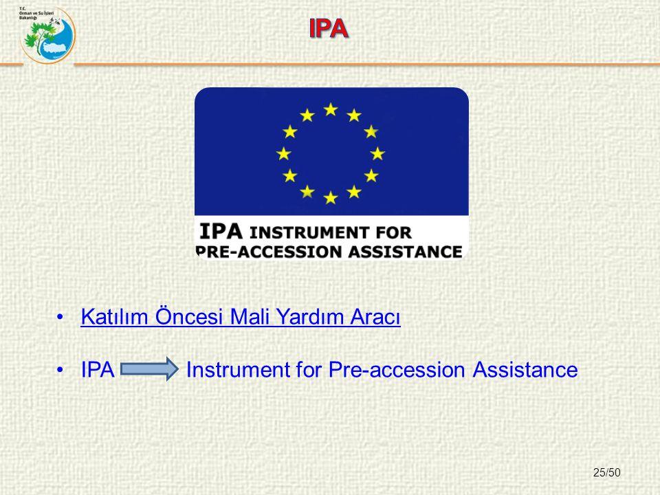 25/50 Katılım Öncesi Mali Yardım Aracı IPA Instrument for Pre-accession Assistance