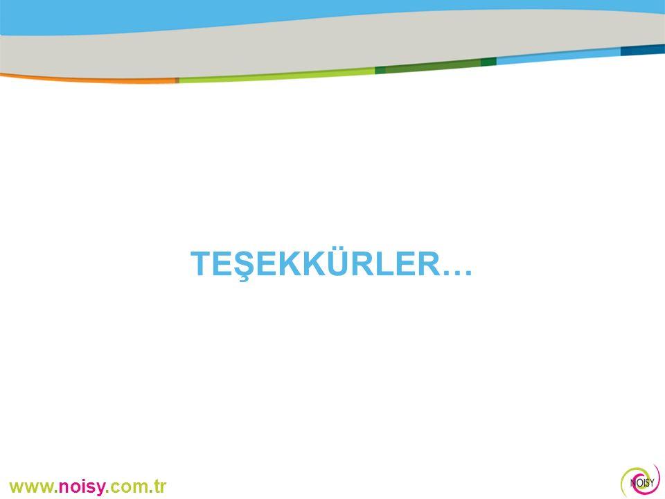 www.noisy.com.tr TEŞEKKÜRLER…