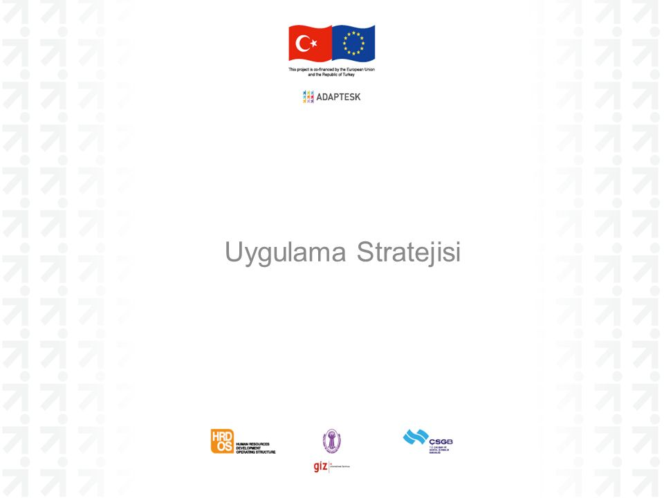 Uygulama Stratejisi