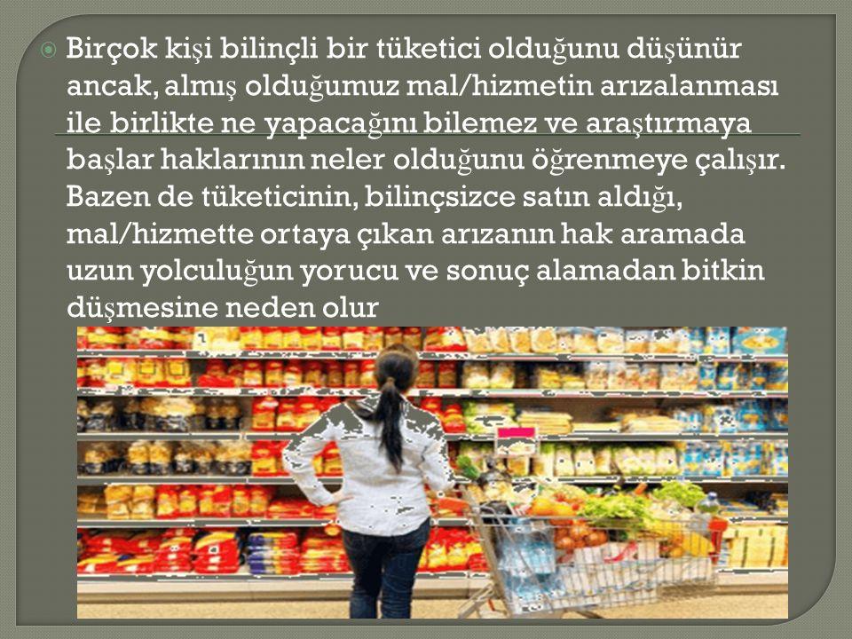  Bilinçli bir tüketici olmak için neler yapmalıyız.