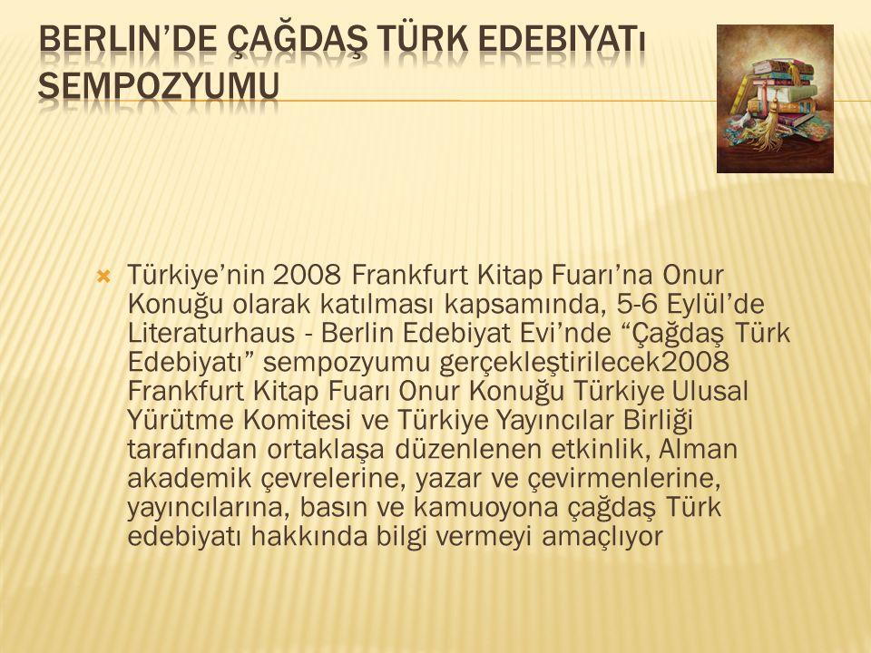  Uluslararası Pekin Kitap Fuarı nda Türk Kültür, Sanat ve Edebiyatı nın Dışa Açılımı (TEDA) programının tanıtımı yapılacak.